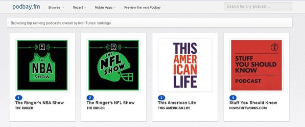 Download Podcasts without iTunes - Choose the Category