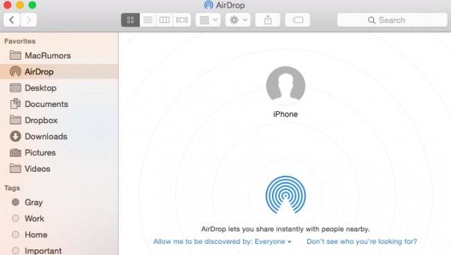 كيفية استخدام airdrop من mac إلى iphone - تشغيل AirDrop على iPhone و Mac
