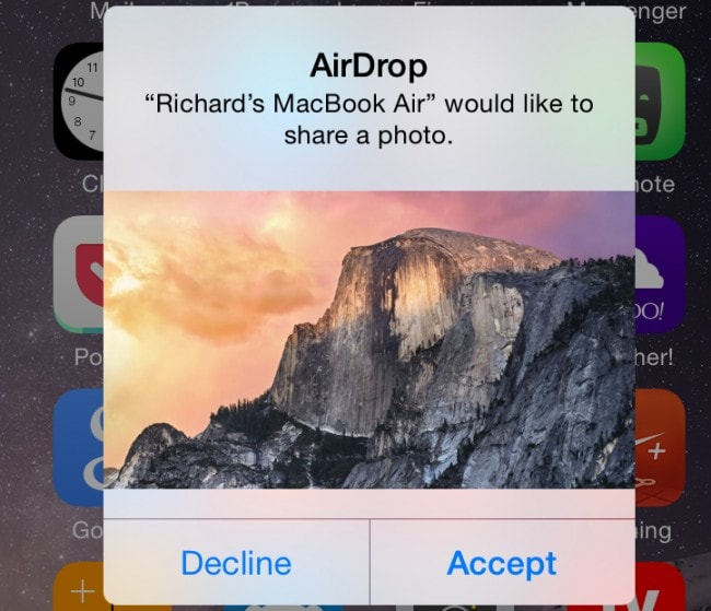 how to use airdrop from mac to iphone - Share Files