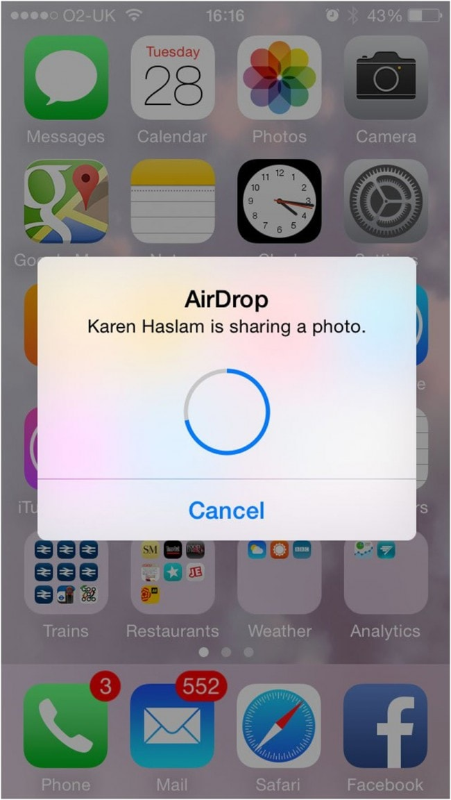 how to use airdrop from mac to iphone - Finish Transfer
