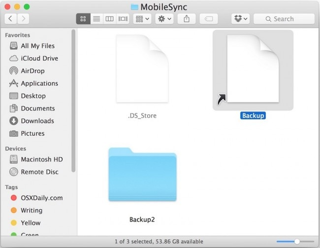 Back up iPad Files to External Hard Drive with iTunes- quite terminal