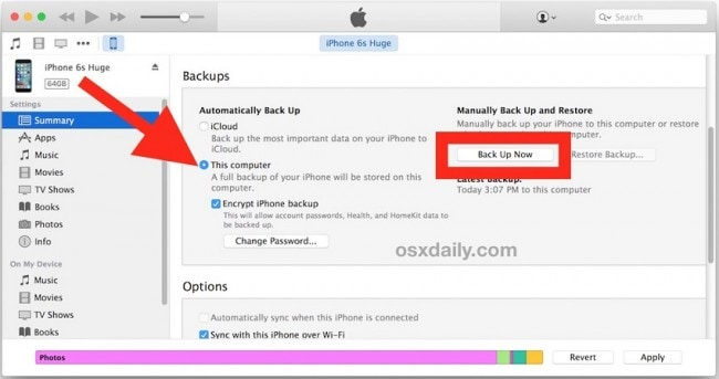 Back up iPad Files with iTunes to External Hard Drive