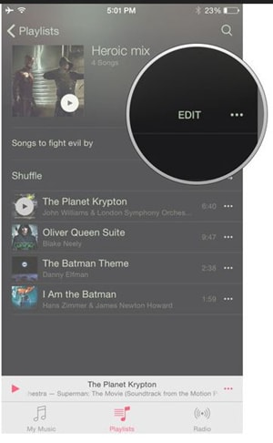 Delete Playlist from iPhone - Select iPhone Playlist to Delete