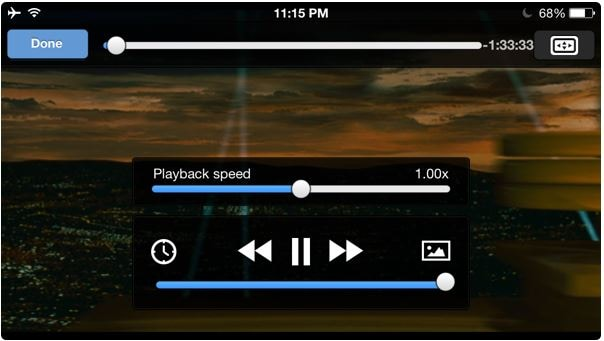 Tips for Using VLC for iPhone - Playback Speed of Videos