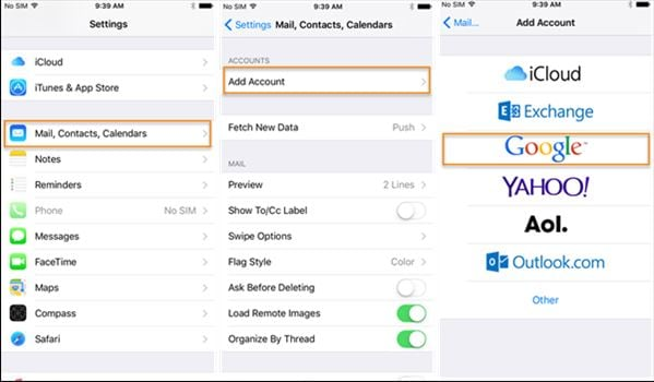How to transfer contacts from iPhone to Samsung S20-google Gmail