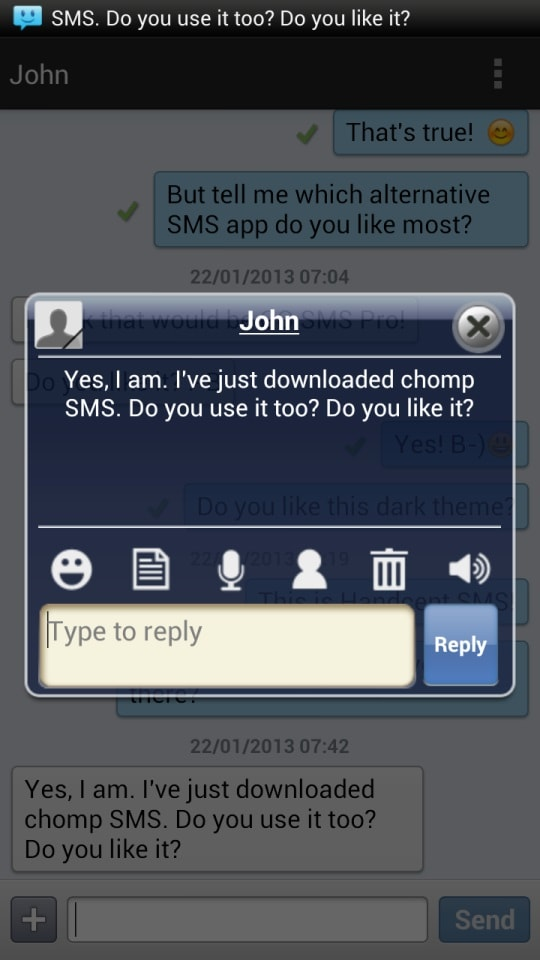 recover deleted messages from samsung phone-Chomp SMS
