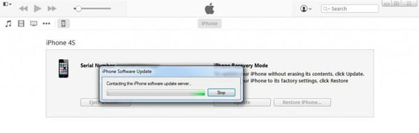 commencer à sortir l'iPhone du mode récupération avec iTunes