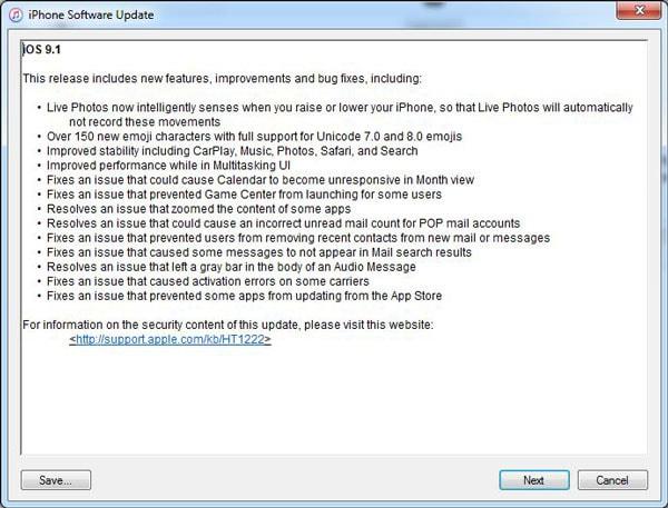 sortir l'iPhone du mode de récupération avec iTunes