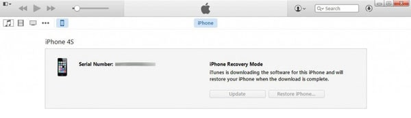 restores the latest iOS