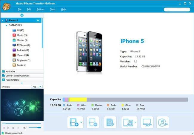 syncios iPhone transfer