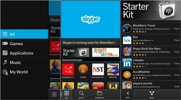 Android apps voor BlackBerry Z10/q10