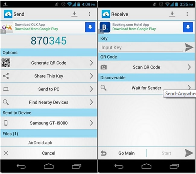 android file transfer apps-Send Anywhere