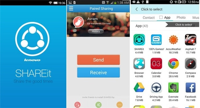 android file transfer apps-SHAREit