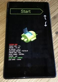 bloqué à la récupération du système android