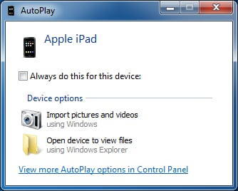 Transfer Photos from iPad to SD Card directly Through PC