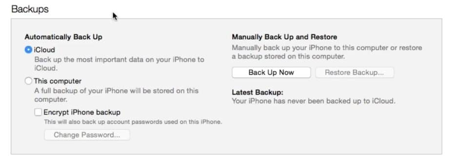 backup iphone text messages with itunes