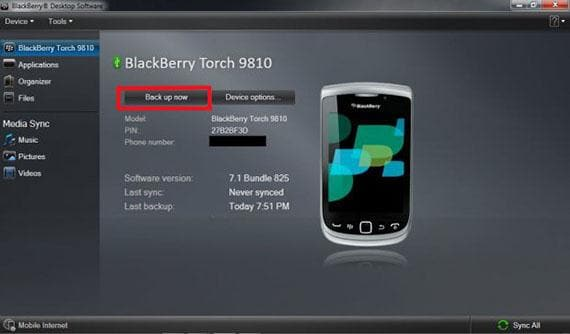 step 3 to transfer data from BlackBerry