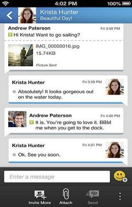 instant messaging apps for iphone and blackberry