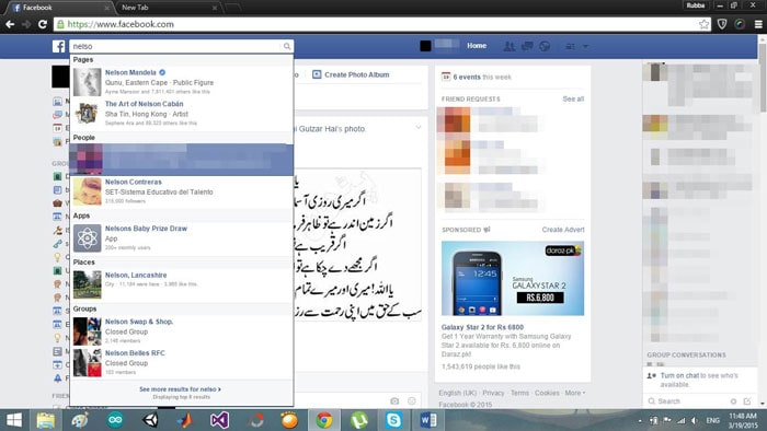 start to block and deactivate facebook messages