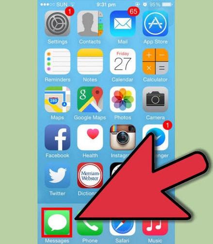 Hoe Berichten Wissen op iPhone