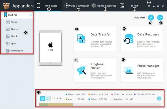 Übertragen von PDF-Dateien vom iPad auf den PC mit Appandora - Appandora verbinden
