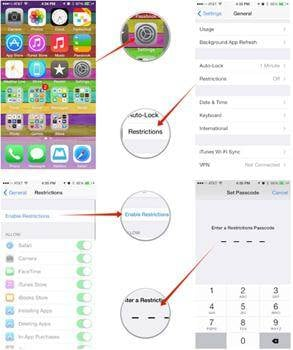 use parental controls on iPhone and iPad
