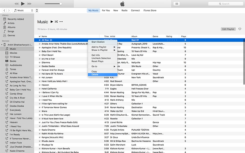 How to Delete Music from iPod Classic with iTunes-remove music