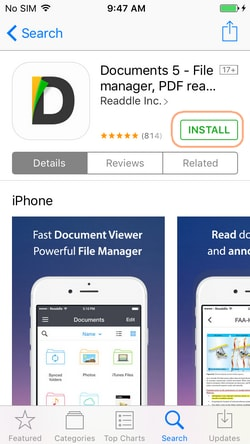 How to transfer videos from PC to iPhone camera roll with Documents 5