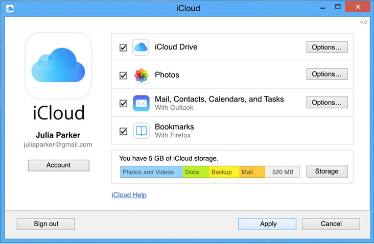 How to Transfer Notes from iPad to Computer Using iCloud - Install iCloud Control Panel