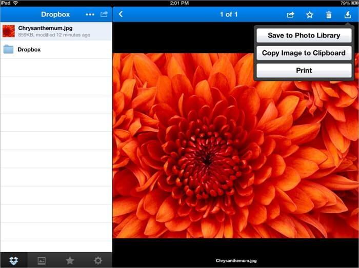 نقل الصور من الكمبيوتر إلى الأيباد باستخدام Dropbox