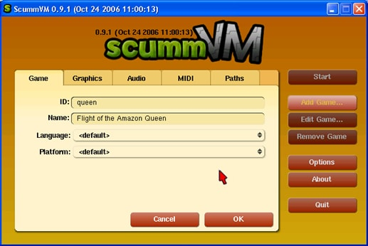 Emulator for Mac-ScummVM