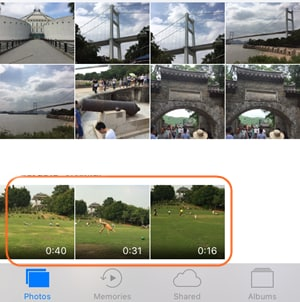 Email iPhone Videos - Choose Camera Roll