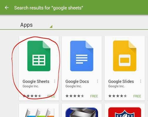 download google sheets app