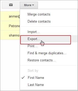how to backup google contacts to pc
