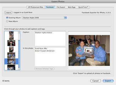 export iphoto to facebook-Run iPhoto Application