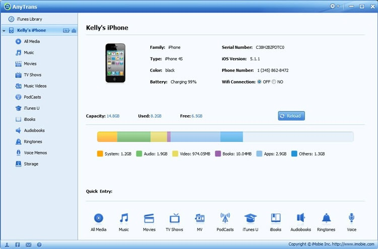 iTunes Backup Extractor: AnyTrans
