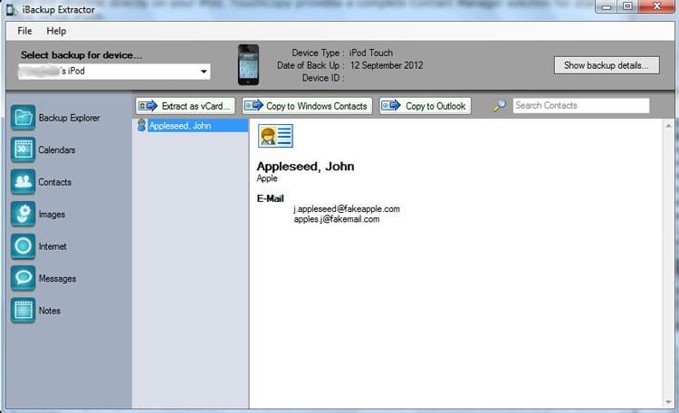 iTunes Backup Extractor: iBackup Extracto