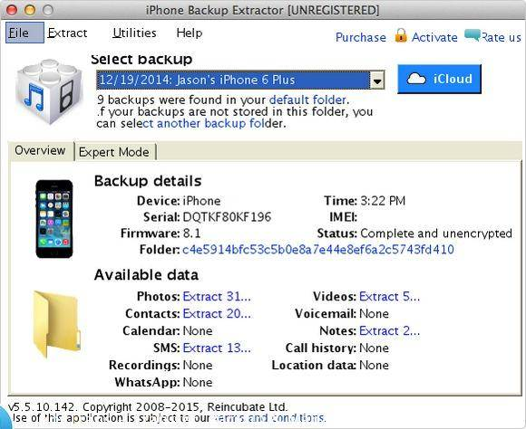 iTunes Backup Extractor: iphone backup extractor