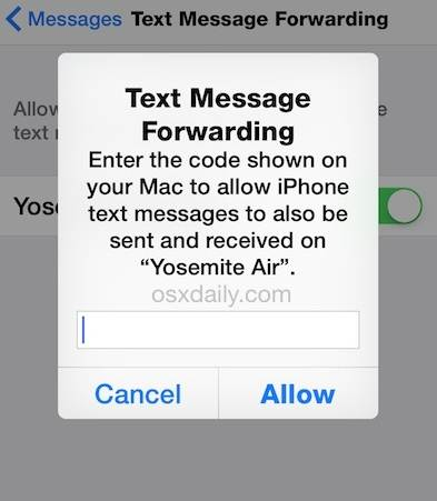 Forward Text on iPhone and Android