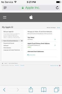Change iCloud Account Apple ID