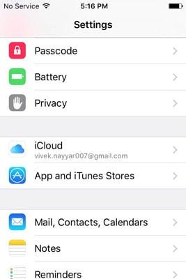 Change Your iCloud Account