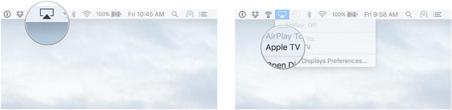 gebruik airplay op mac