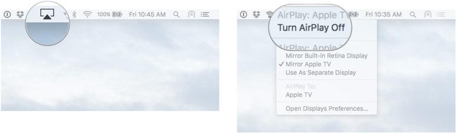 airplay uitschakelen