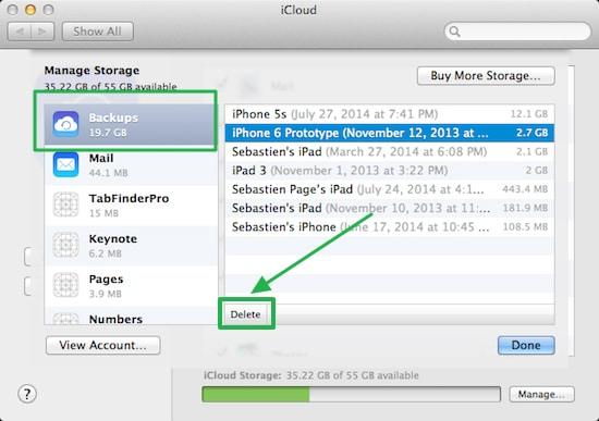Verwijder je iPhone back-up vanuit Mac.