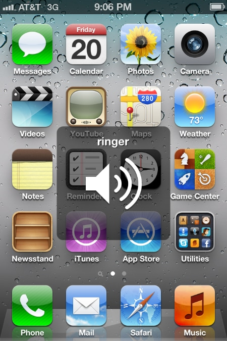 ringer on iPhone