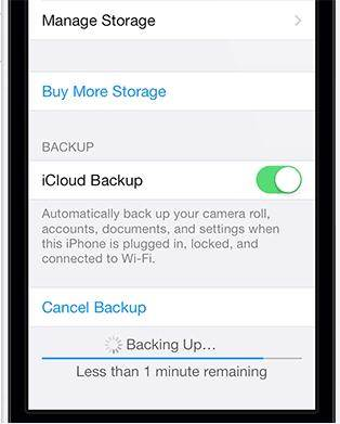 start to backup iPhone notes with iCloud