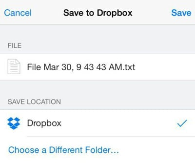 backup iPhone notes with Dropbox