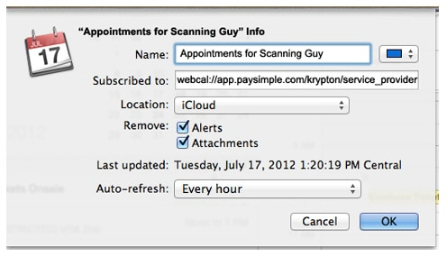 sync ical with iphone - step 3 for Sync ical to other ical users