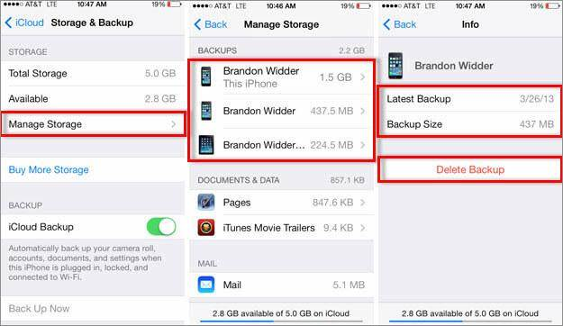 how to access icloud backup content