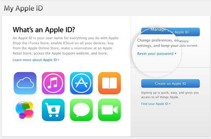Go to my Apple ID